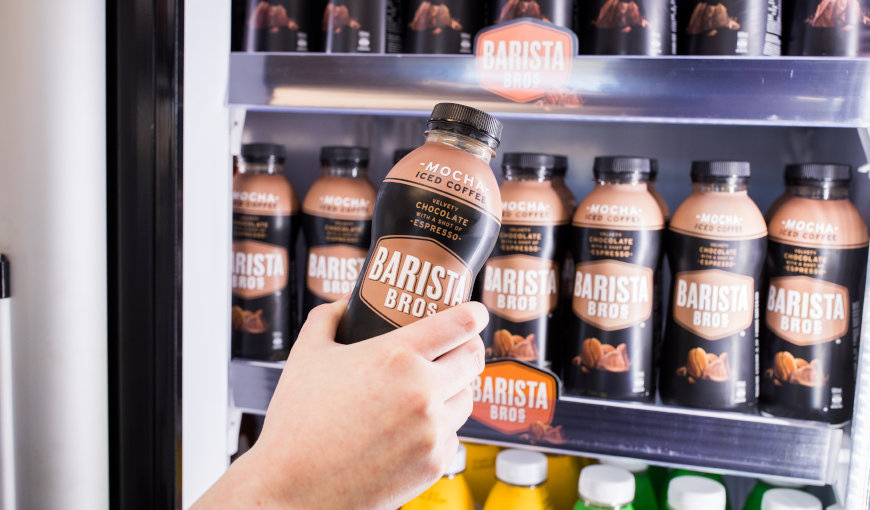 Barista bros beverages at an On the Spot location