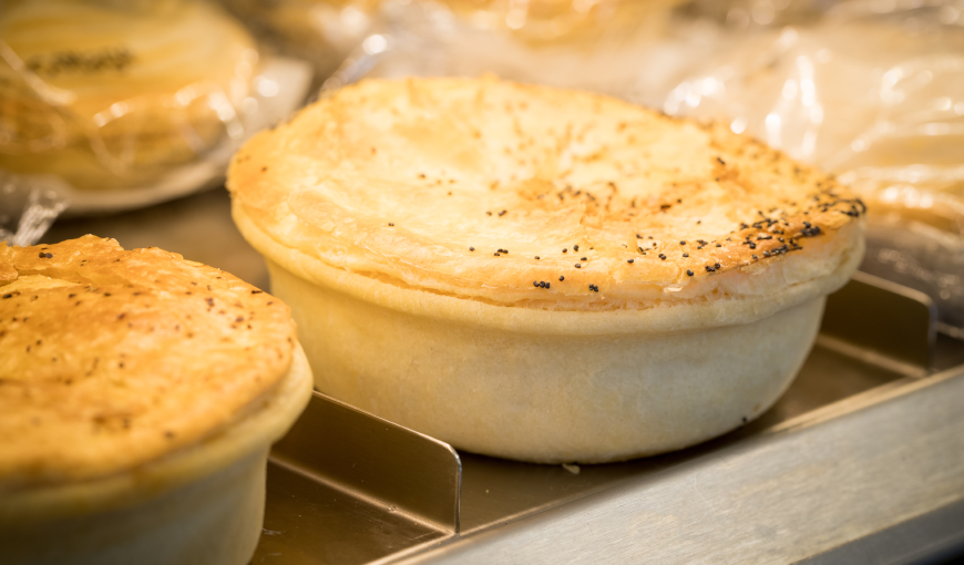 hot pies to go at an On the Spot store